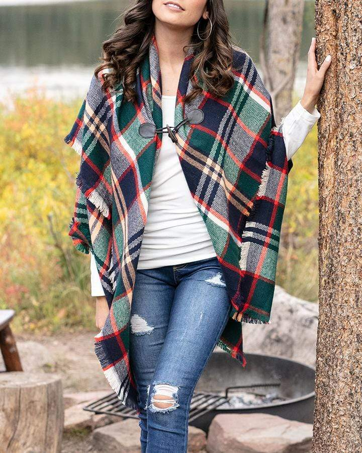 Blanket Scarf/Toggle Poncho - Grace and Lace