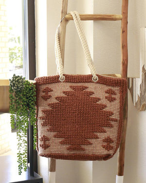 (**final sale**) Bubble Jacquard Tote