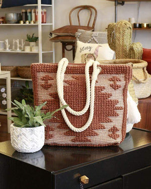 (**final sale**) Bubble Jacquard Tote Sienna