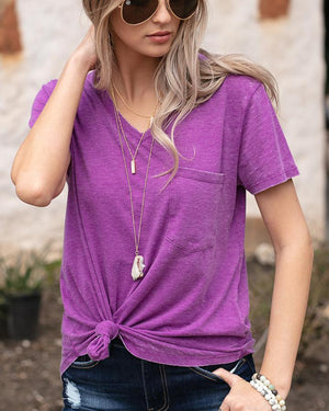 (**final sale**) Burnout Perfect Pocket Tee Orchid / XS
