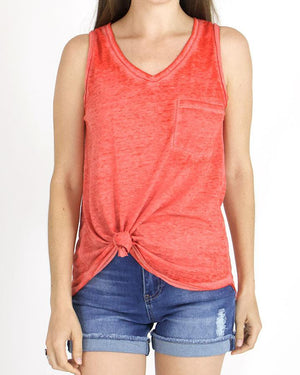 (**final sale**) Burnout Pocket Tank