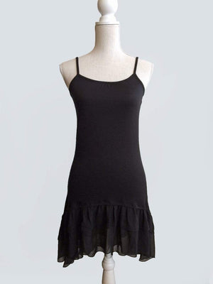 Chiffon High-Low Extender - Black / XS
