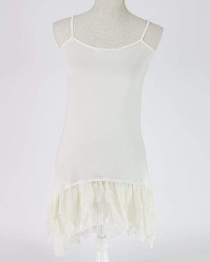 Chiffon High-Low Extender - Light Cream / XS