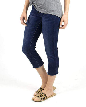 Classic Mid-Rise Pull On Cropped Jeggings - Dark Wash / XS
