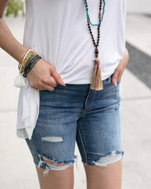 Classic Mid-Rise Pull On Shorts -