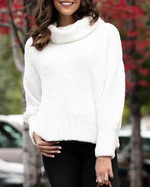 (**final sale**) Cowl Neck Cloud Sweater White / XS