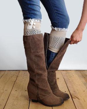 Dainty Boot Cuffs - Tan