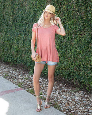 (**final sale**) Fable Peplum Tee