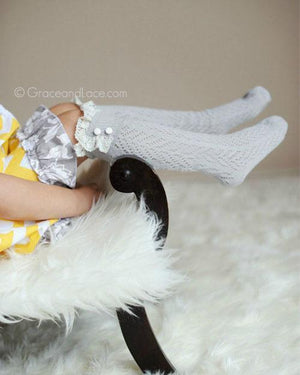 (**final sale**) Lil Dainty Boot Socks Dove Grey