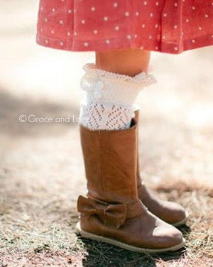 Lil Dainty Boot Socks - Ivory