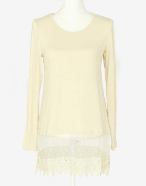 Long Sleeve Top Extender - Bisque* / XS