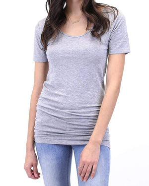 (**final sale**) Perfect Fit Top - Short Sleeve Heather Grey