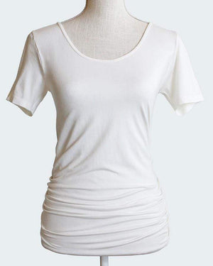 (**final sale**) Perfect Fit Top - Short Sleeve Ivory