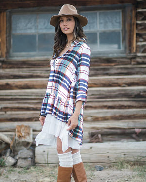 (**final sale**) Ruffle Plaid