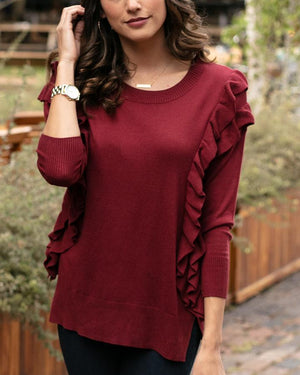 Ruffle Sweater -