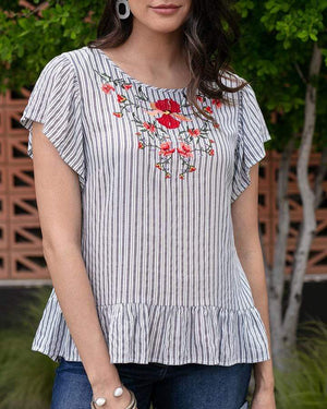 Sanibel Embroidered Top -