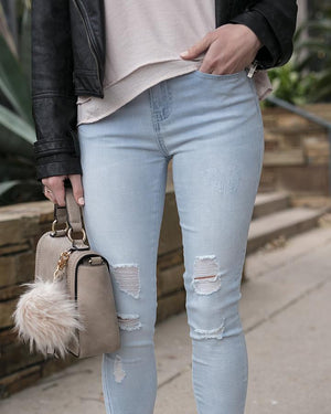 Soft Stretch Zip Up Cropped Jeggings -