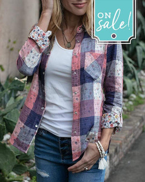 (**final sale**) Spring Floral Plaid