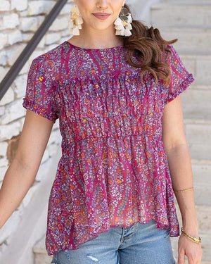 (**final sale**) Sweet Sangria Top Sangria Ditsy / XS
