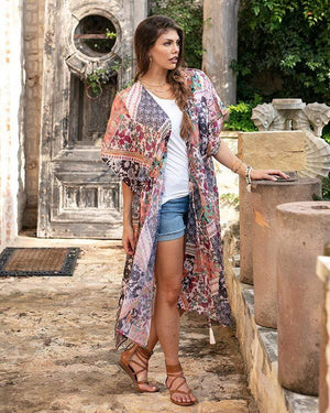 Flora Garden Duster Floral Patchwork / One Size