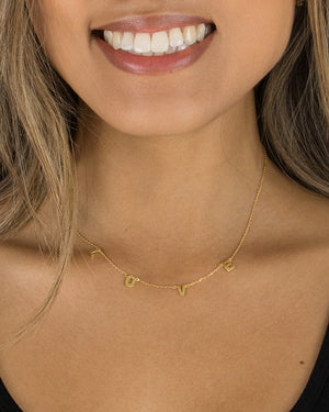 (**new color**) Gold L-O-V-E Necklace
