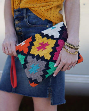 Indian Summer Clutches - Multi Color Clutch / One Size