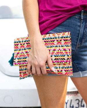 Indian Summer Clutches - Peruvian / One Size (Will Ship Early June)
