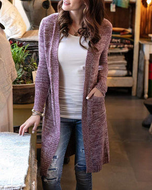 Lush Bambü™ Duster Cardigan Heathered Wine / XS/S
