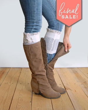 Dainty Boot Cuffs - Ivory - final sale