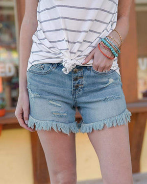 Girlfriend Button Fly Shorts -