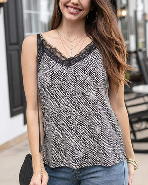 Eyelash Lace Cami - Almost Animal / XS