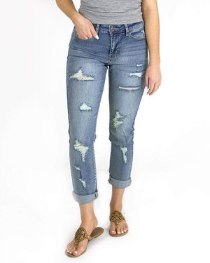 Favorite Girlfriend Jeans - Distressed -