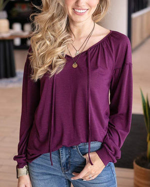 Highlands Top - Plum / XS