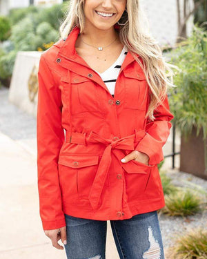 (**new item**) Rain Jacket Hot Red / XS