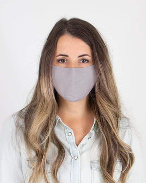 Solid Color Triple Layer Mask - Light Grey / Adult (Will Ship Late May) / Single Mask