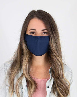 Solid Color Triple Layer Mask - Navy / Adult (Will Ship Late May) / Single Mask