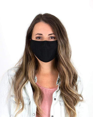 Solid Color Triple Layer Mask - Black / Adult (Will Ship Late May) / Single Mask