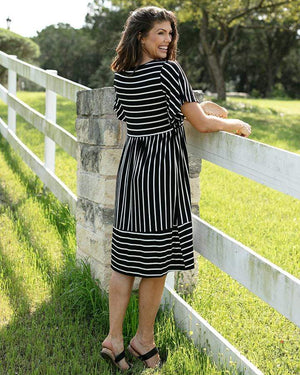Striped Midi Dress -