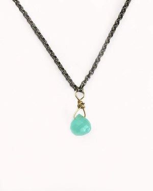 Tear Drop Necklace - Turquoise / One Size (Will Ship Early May)