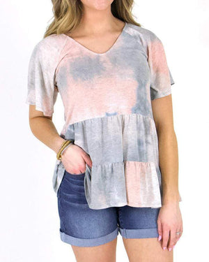 (**new item**) Tiered Tie-Dye Tee