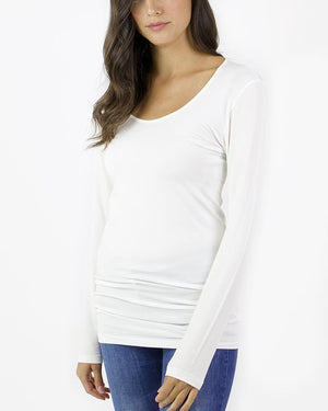 Perfect Fit Top - Long Sleeve - Ivory / One Size