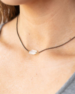 Raw Cut Stone Necklaces -