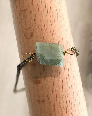 Raw Cut Stone Necklaces - Dusty Mint Aquamarine (Will Ship Early May) / One Size