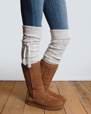 Alpine Thigh High Boot Socks - Tweed