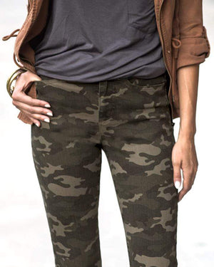(**sale**) Camo Mid-Rise Zip Up Jeggings