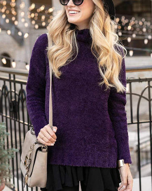 (**sale**) Dream Tunic Sweater in Purple Royale Purple Royale / XS