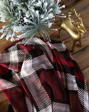 Holiday Throw Blanket - Red Plaid