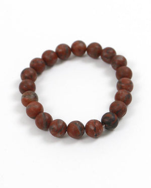 (**sale**) Natural Stone Bracelet Earth Red