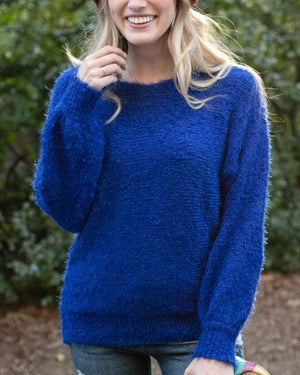 (**sale**) Snuggle Up Sweater in Bold Blue Bold Blue / XS