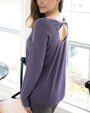 (**sale**) Twist Back Pullover Loganberry / XS